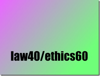 ca law and ethics